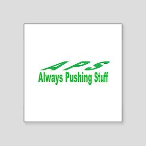 pushing stuff Sticker