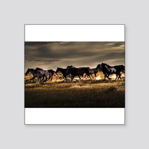 Wild Horses Running Free Sticker