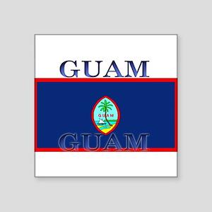 """Guam Square Sticker 3"""" x 3"""""""