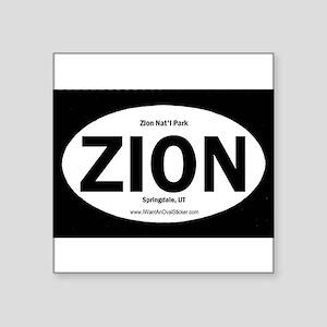 Zion Oval Sticker