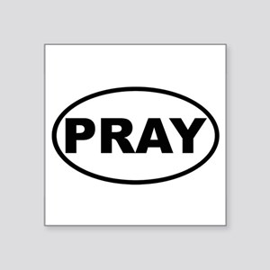 PRAY Oval Sticker
