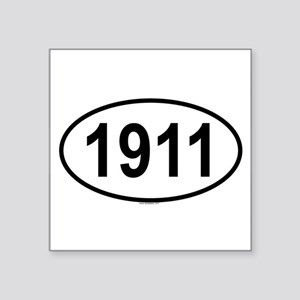 1911 Oval Sticker