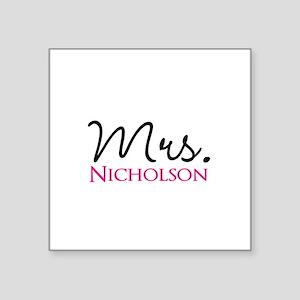 "Customizable Name Mrs Square Sticker 3"" x 3"""