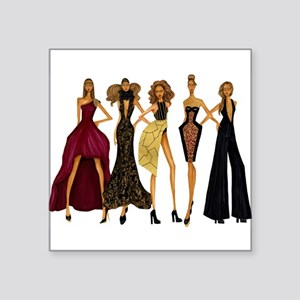 "Fashionable Diva Square Sticker 3"" x 3"""