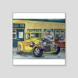 "1932 HotRod Pickup Square Sticker 3"" x 3"""