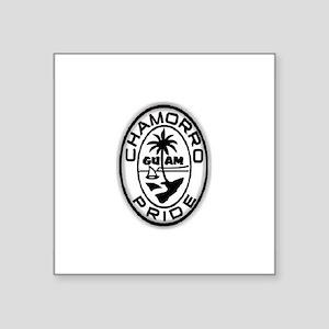 """Chamorro Pride Logo Square Sticker 3"""" x 3"""""""