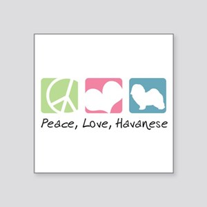 "peacedogs Square Sticker 3"" x 3"""