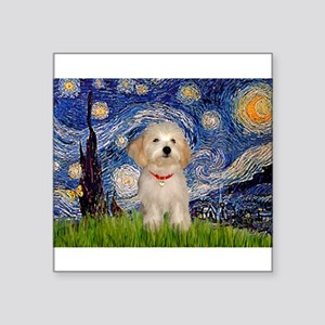 "Starry / Havanese Square Sticker 3"" x 3"""