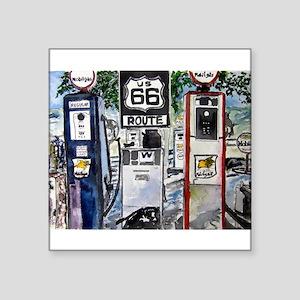 """route_66 Square Sticker 3"""" x 3"""""""