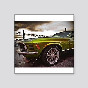"""70 Mustang Mach 1 Square Sticker 3"""" x 3"""""""