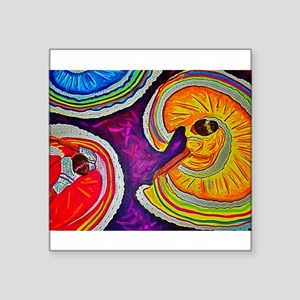 """Circles on the Ground Square Sticker 3"""" x 3"""""""