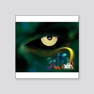 """3dfx Got the voodoo eyes on you Square Sticker 3"""""""