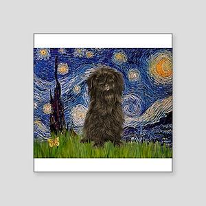 "Starry Night / Affenpinscher Square Sticker 3"" x 3"
