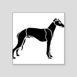 "Greyhound Square Sticker 3"" x 3"""
