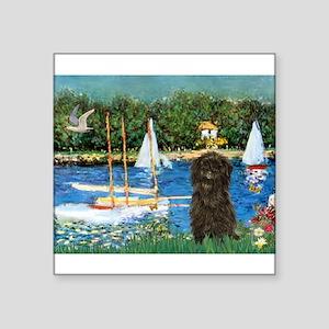 Sailboats & Affenpinscher Square Sticker 3&quo