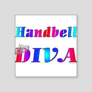 "Handbell Diva Square Sticker 3"" x 3"""