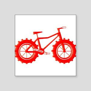 windblown red fat bike logo Sticker