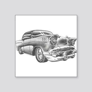 "Vintage Chevy Square Sticker 3"" x 3"""