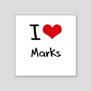 I Love Marks Sticker