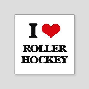 I Love Roller Hockey Sticker