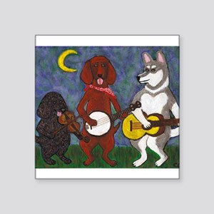 "Country Dogs Square Sticker 3"" x 3"""
