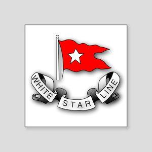 White Star Vlogger Logo Sticker