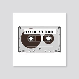 """Play the Tape Square Sticker 3"""" x 3"""""""