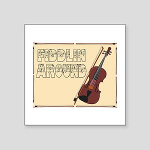 Fiddilin Around Sticker