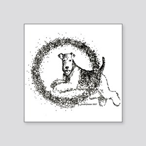 "airedale Square Sticker 3"" x 3"""