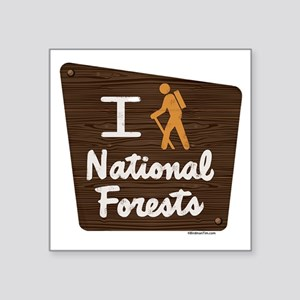 I HIKE NATIONAL FORESTS Sticker