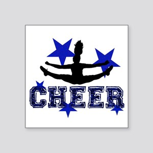 Blue Cheerleader Sticker