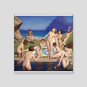 Classic nude art Sticker