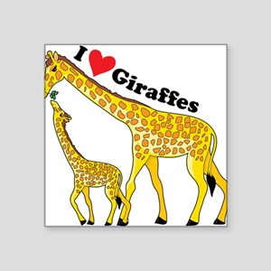 "giraffe and baby cp Square Sticker 3"" x 3"""
