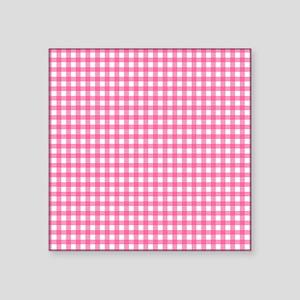 Pink Check Gingham Patterns Sticker