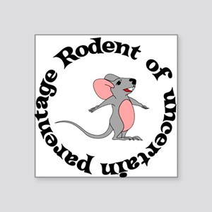 "rodent01 Square Sticker 3"" x 3"""