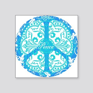 funky peace sign Rectangle Sticker