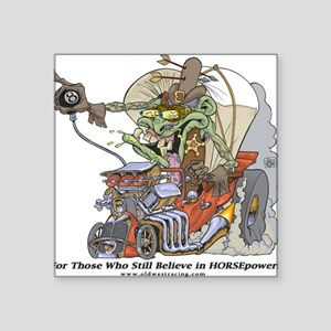 Old West Racing Square Sticker