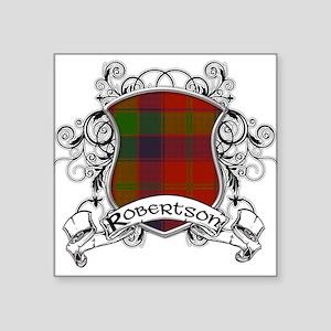 "Robertson Tartan Shield Square Sticker 3"" x 3"""