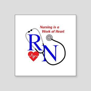 WORK OF HEART Sticker