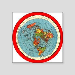 flat earth map Sticker