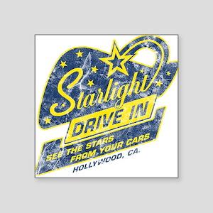 Starlight Drive In Square Sticker