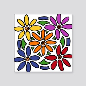 Colorful Daisy Floral Art Sticker