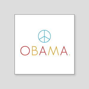 OBAMA PEACE color Square Sticker