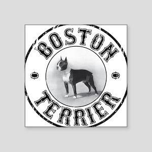 Boston Terrier Oval Sticker