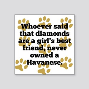 Havanese Are A Girls Best Friend Sticker
