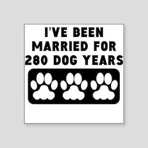 40th Anniversary Dog Years Sticker