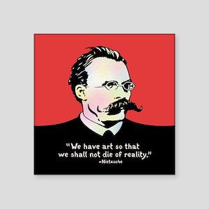 """Nietzsche - Art v. Reality Square Sticker 3"""" x 3"""""""