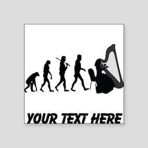 Harp Player Evolution (Custom) Sticker