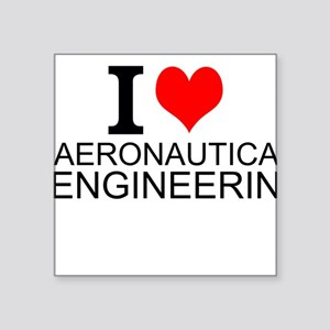 I Love Aeronautical Engineering Sticker