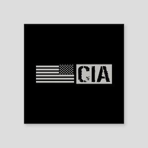 """CIA: CIA (Black Flag) Square Sticker 3"""" x 3"""""""